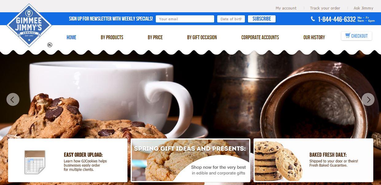 Gimmee Jimmys Cookies Organic SEO