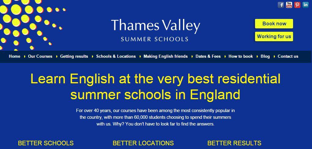 Thames Valley Summer School Website Re-design